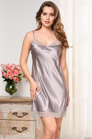 Сорочка Mia Amore серебро 3581 (70% натуральный шелк)
