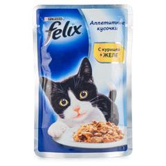 """Корм для кошек Felix """"С курицей в желе"""" 85г"""