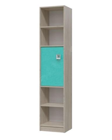 Шкаф-стеллаж с дверкой ФЛОРИНА дуб сонома / аква