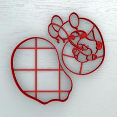 Мишка с цифрой 6