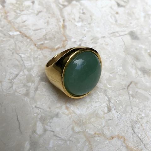 Кольцо Катара с зеленой вставочкой