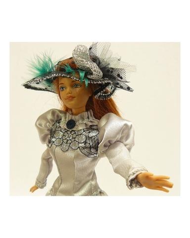 Платье для визитов - На кукле. Одежда для кукол, пупсов и мягких игрушек.