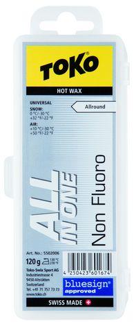 парафин Toko TRIBLOC NF All-in-one универсальный белый, 0°/-30°С, 120 гр.