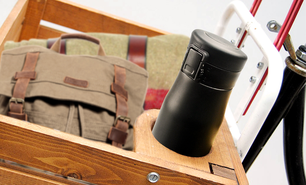 Термокружка Asobu Liberty canteen (0,5 литра) черная/стальная