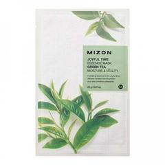 Mizon Joyful Time Essence Mask Green Tea - Тканевая маска для лица с экстрактом зелёного чая