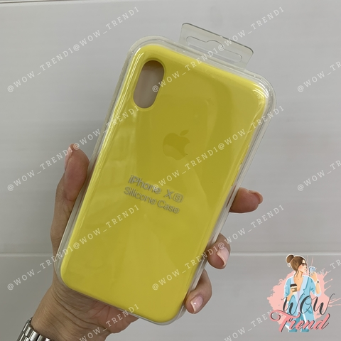 Чехол iPhone X/XS Silicone Case /canary yellow/ канареечный original quality