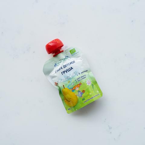 Пюре детское груша с 4 мес. Fleur Alpine, 90 гр