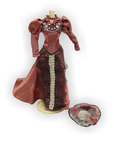 Платье для визитов - Розовый 1. Одежда для кукол, пупсов и мягких игрушек.