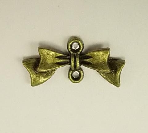 "Коннектор ""Бантик"" (1-1) 20х10 мм (цвет - античная бронза) ()"