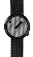 Jacquard watch mesh black