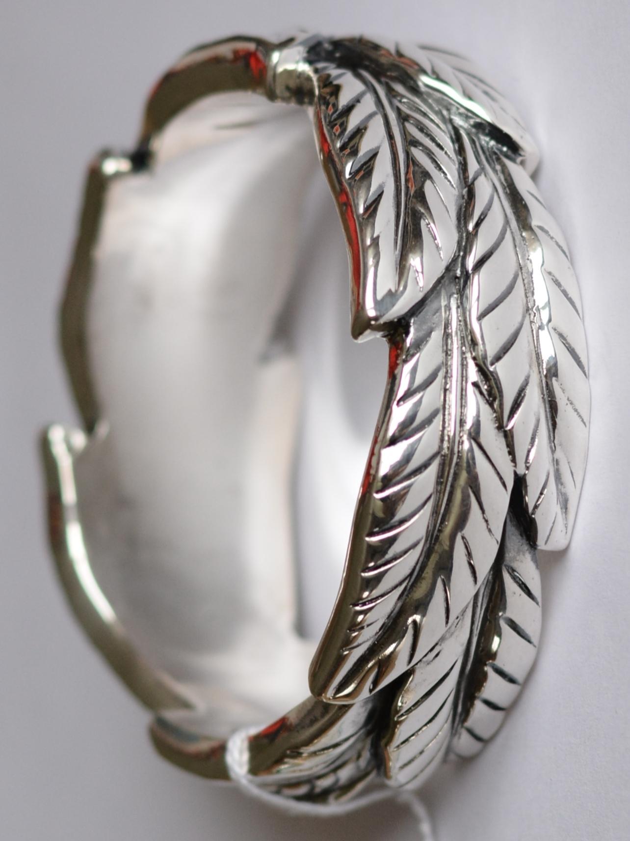 Джунгли (браслет из серебра)