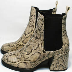 Ботинки под рептилию женские осень весна Kluchini 13065 k465 Snake.