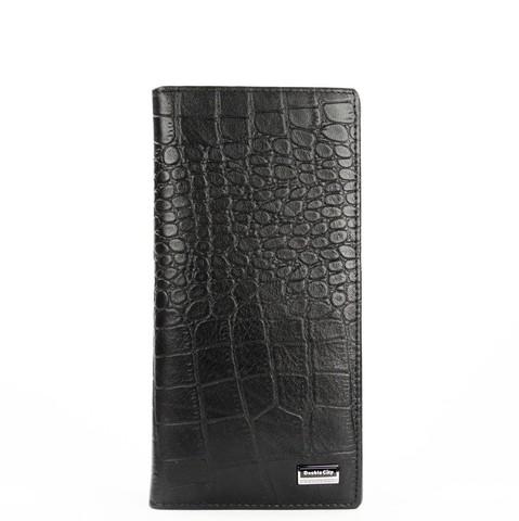 Вертикальное портмоне из натуральной кожи под крокодила Dublecity 063-DC9-25A