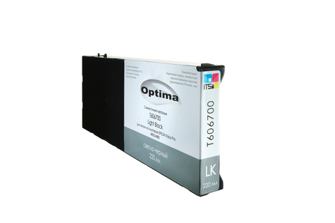 Картридж Optima для Epson 4000/7600/9600 C13T544700 Light Black 220 мл