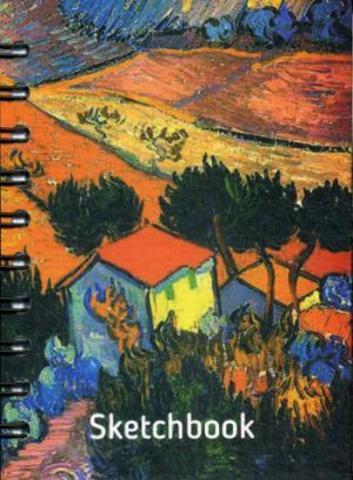 Скетчбук Ван Гог. Пейзаж с домом и пахарем