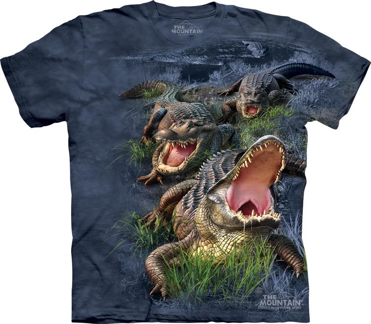 Футболка Mountain с изображением аллигатора - Gator Bog