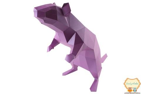 Конструктор. Крыса. Papercraft. 3D фигура из бумаги и картона.