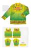 Городецкая роспись рубаха мужская Весна - Лето ( комплект для пошива)