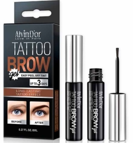 Alvin D`or Гель-тинт д/бровей Tattoo brow gel 8мл.в короб (тон 02 dark brown) EG-01