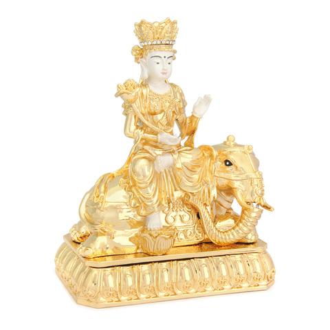 Будда Самантабахдра на снежном слоне