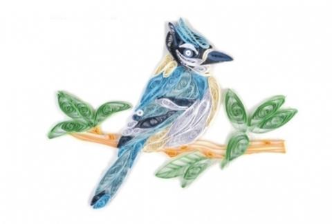 Квиллинг Красивая птица/М-8010