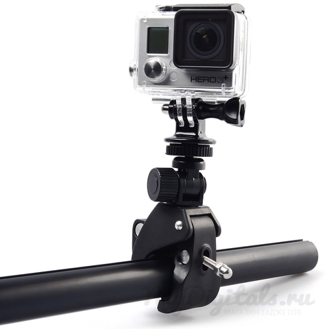 Крепление зажим на руль для GoPro (прищепка)