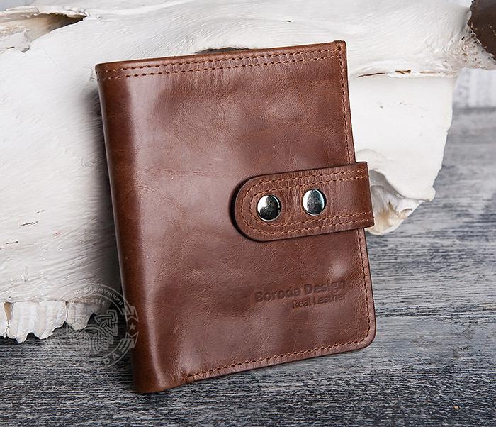 WL283-2 Крутое мужское портмоне ручной работы из кожи
