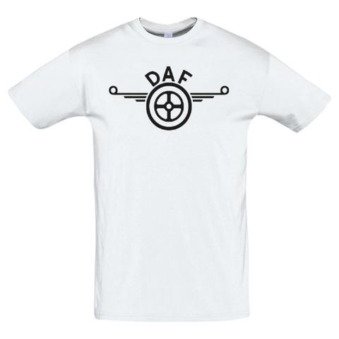 Футболка с принтом ДАФ (DAF) белая 2