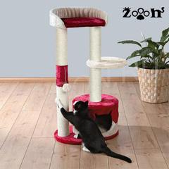 Trixie домик для кошки Pilar, высота 100 см бежевый/красный