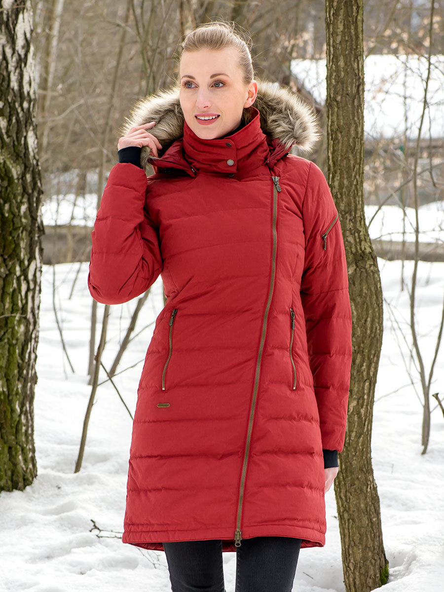 Bergans пуховик 7500 Bodo Down Lady Coat Burgundy