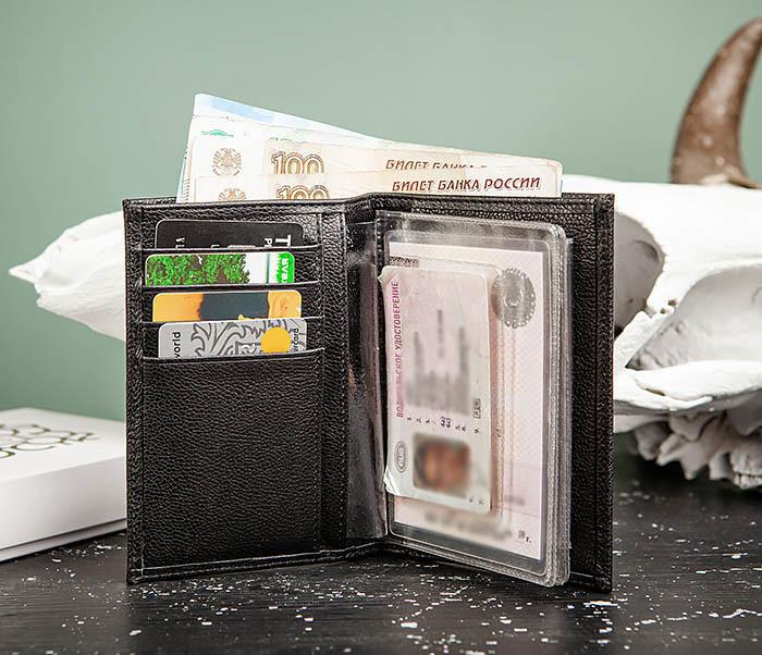 WL319-1 Бумажник автомобилиста для купюр, документов и карт, «Santini» фото 06