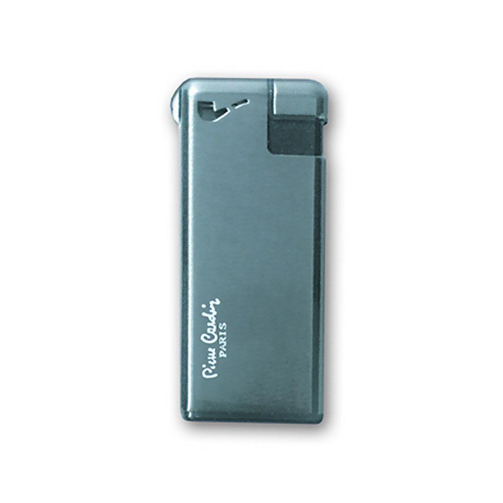 Зажигалка Pierre Cardin кремниевая газовая пьезо, цвет оружейный хром, 2,8х1х5,8см