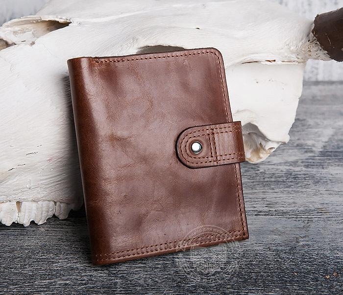 WL283-2 Крутое мужское портмоне ручной работы из кожи фото 02