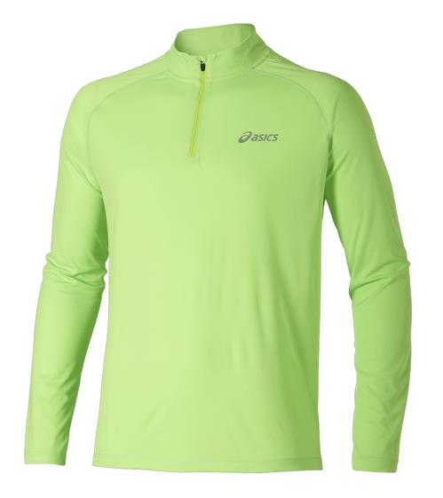 Женская рубашка для бега Asics Zip Top (110425 0473) салатовая фото
