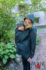 Демисезонная слингокуртка с шапочкой для малыша MaM All-Weather Jacket, Серый