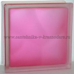 Стеклоблок матовый розовый Vitrablok 19x19x8 окрашенный изнутри