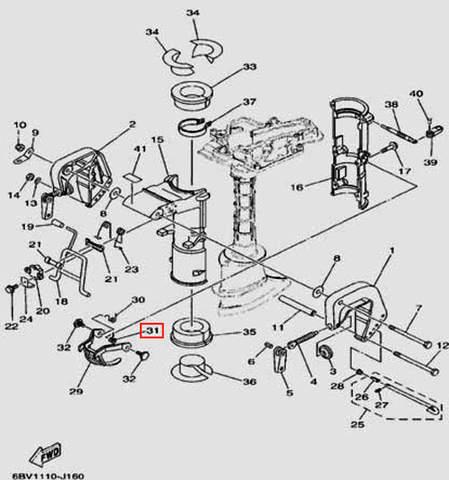 Пружина для лодочного мотора F5 Sea-PRO(16-31)