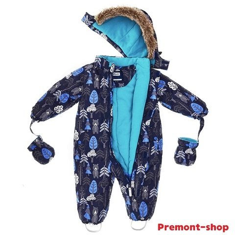 Зимний комбинезон Premont Кермодские медвежата WP92059 BLUE