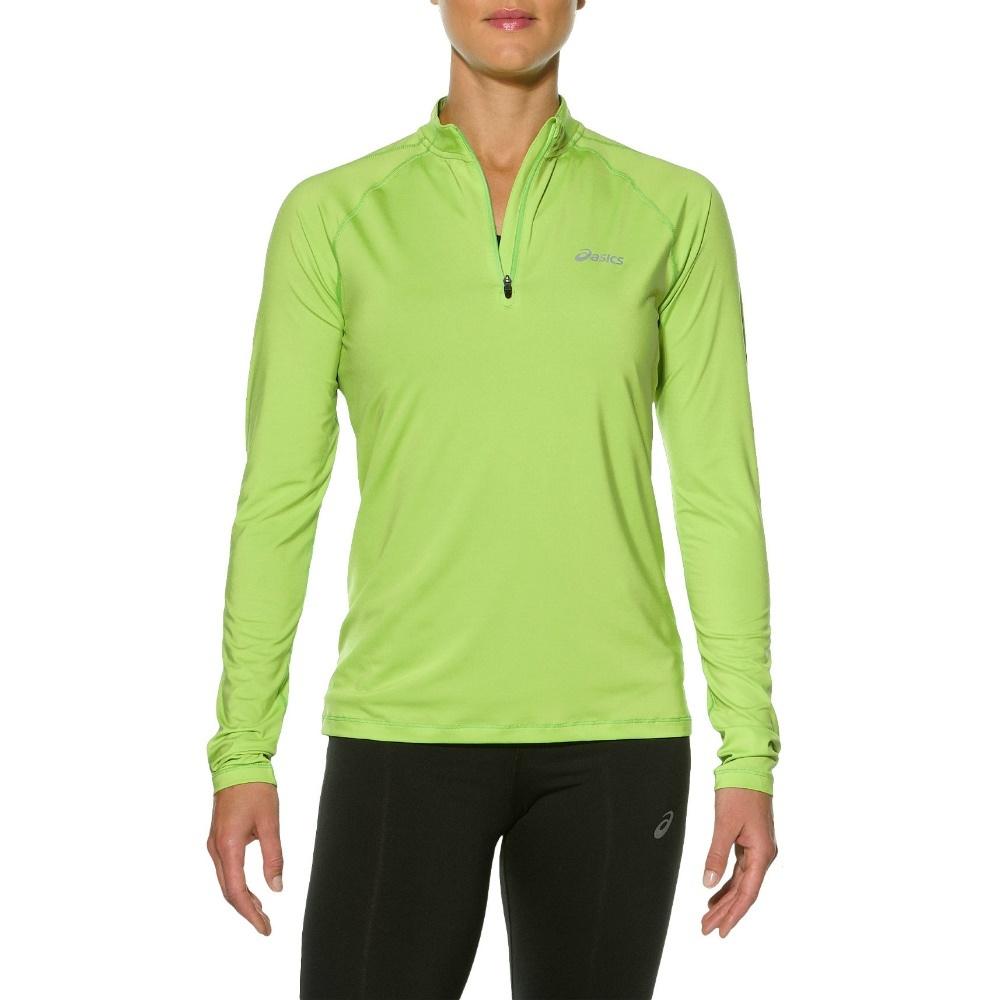 Женская беговая рубашка Asics Zip Top (110425 0473) салатовая фото