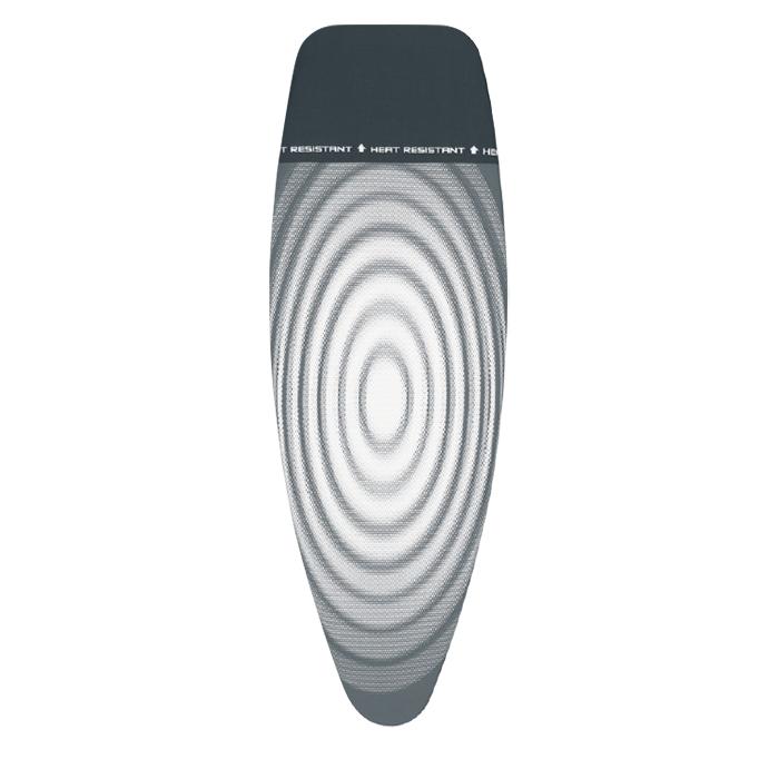 Чехол PerfectFit 135х45 см (D), 2 мм поролона, жаропрочная зона для утюга Титановые круги, арт. 266782 - фото 1