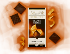 Lindt Excellence Orange Intense Chocolate, 100 gr