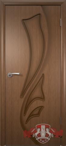 Дверь Владимирская фабрика дверей Лилия 5ДГ3, цвет орех, глухая