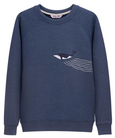 Свитшот Whale Blue
