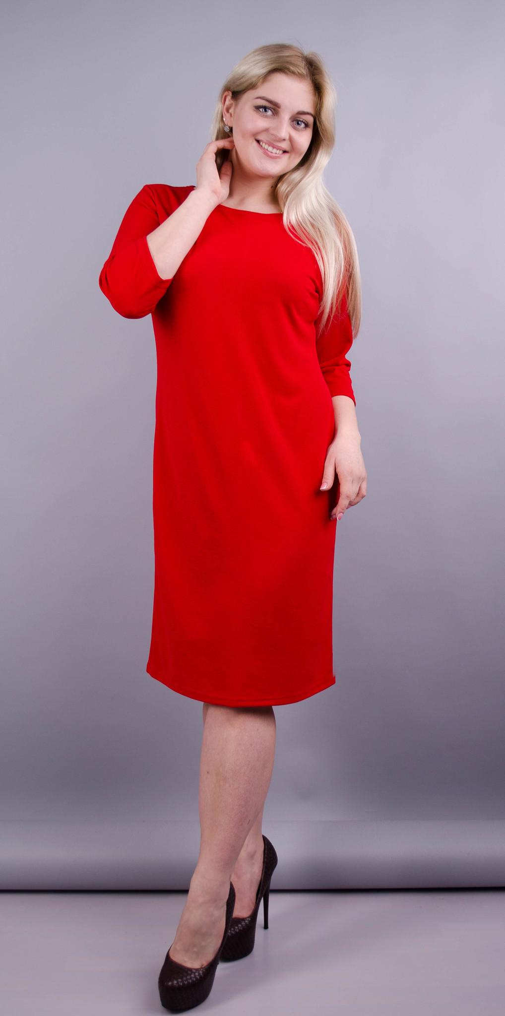 Арина. Платье больших размеров. Красный. 2e9ed5d0a8bf3