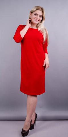 Арина креп. Платье для больших размеров. Красный.