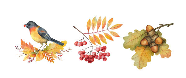 Водорастворимая бумага для мыла Осень