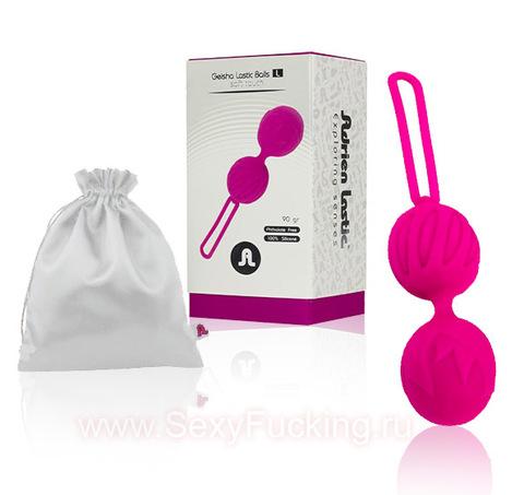 Вагинальные шарики на сцепке Geisha Lastic Ball L Вагинальные шарики на сцепке (3,8 см; вес 90 гр)