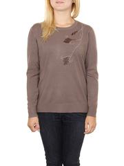 MS1728-8 кофта женская, коричневая