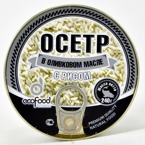 Осетр в оливковом масле с рисом Ecofood, 240г