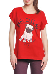 37662-1-2 футболка женская, красная